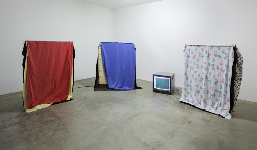 Cloths 1967 Installation View  Video piece by Hollis Frampton Photo: Fredrik Nilsen