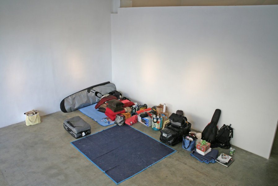 Kiersten Puusemp Whole Wide World (Side 1) Installation View / Performance Documentation 2008 Photo: Sarabeth Puusemp