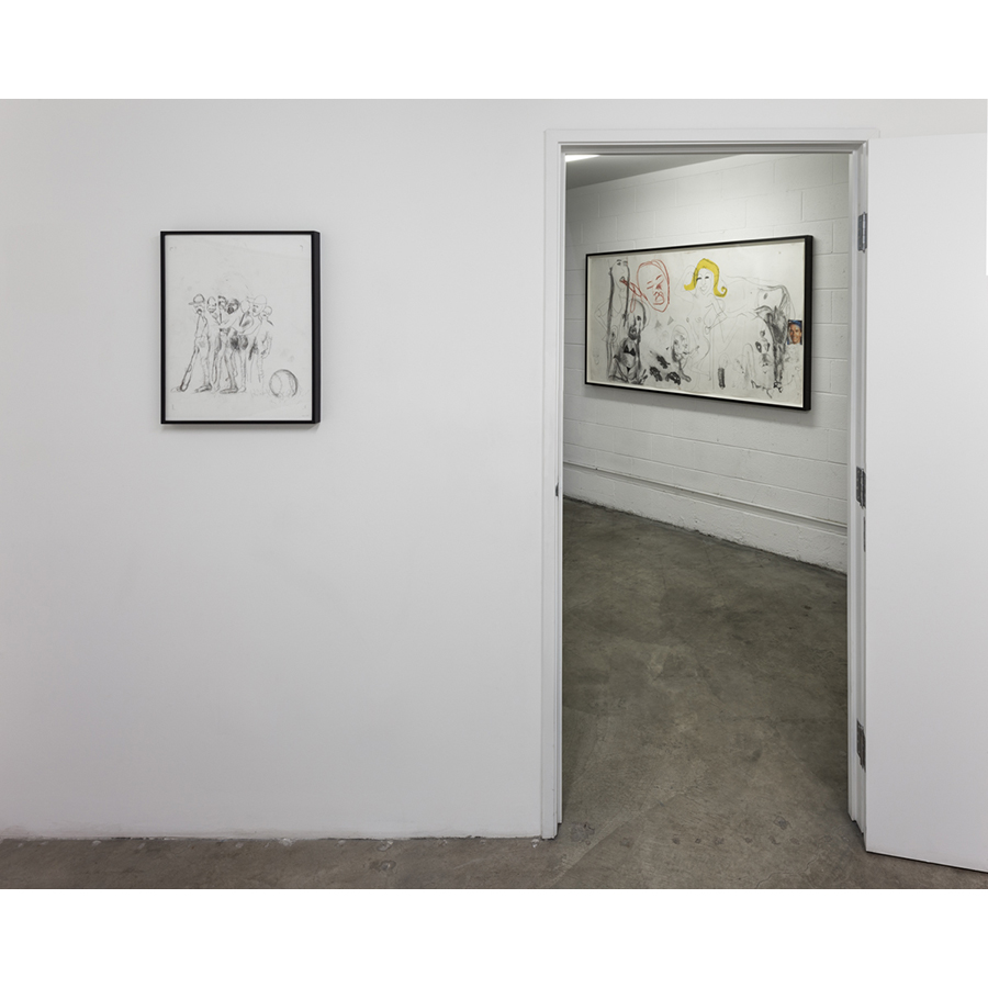 Men in LA: Three Generations of Drawings Installation View 2014 Photo: Fredrik Nilsen