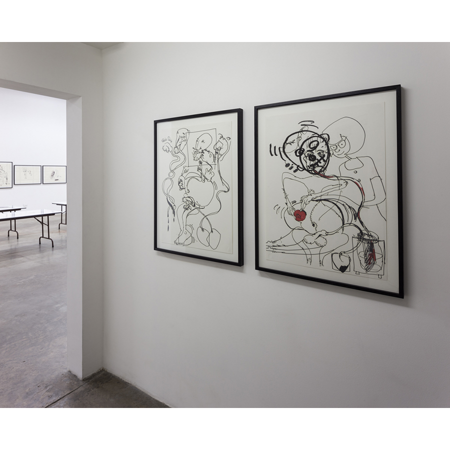 Men in LA: Three Generations of Drawings Installation View Paul McCarthy 2014 Photo: Fredrik Nilsen