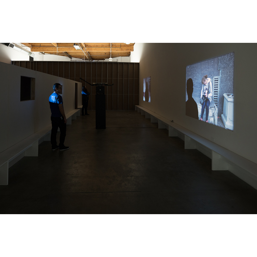 Installation view Vokzal 2016 16mm film Duration: 60 minutes  Photo: Fredrik Nilsen Studio.